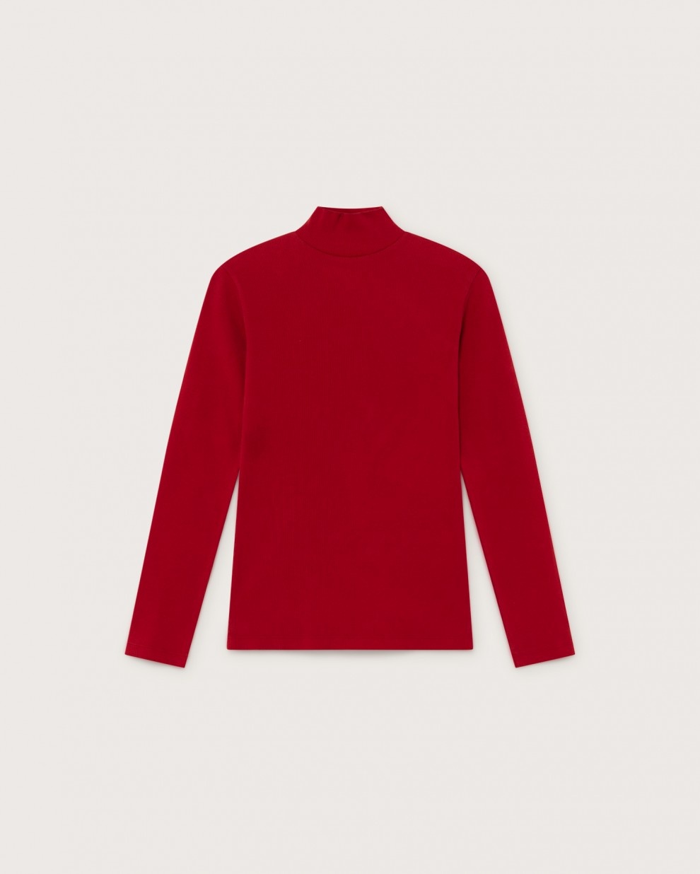 RED RIB AINE L/S TOP