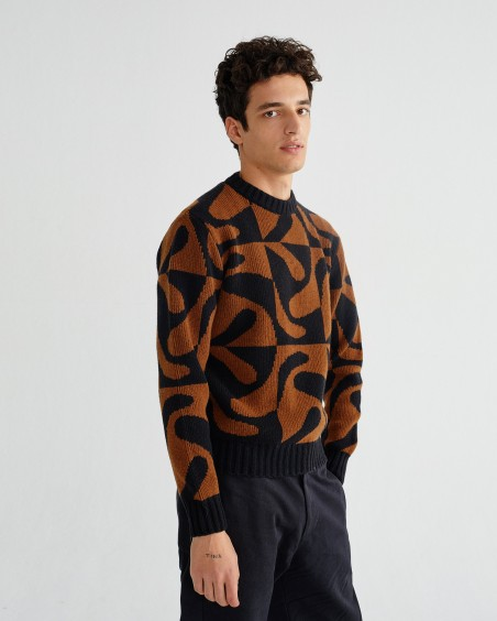 ZABAWA BROWN KHEM SWEATER