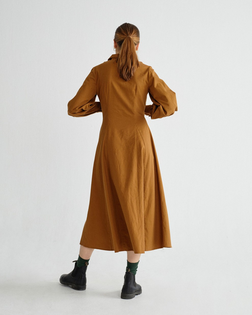 CARAMEL FREYA DRESS