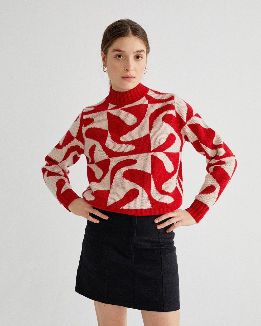 ZABAWA RED OPS SWEATER