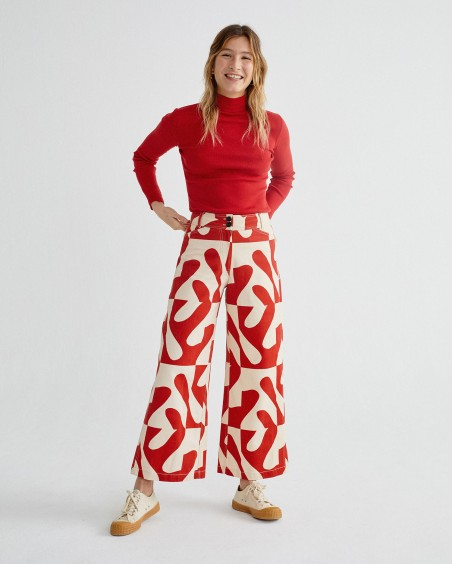 JOHN ZABAWA RED KUPALO PANTS