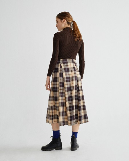 BIG CHECKS RATI SKIRT