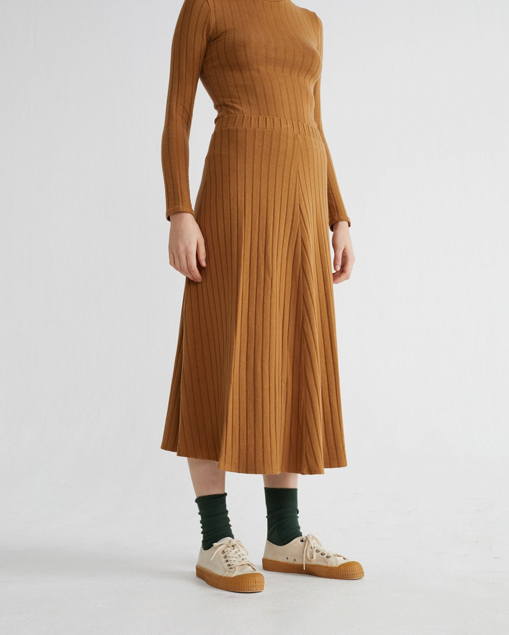 CARAMEL TRASH SATIS SKIRT