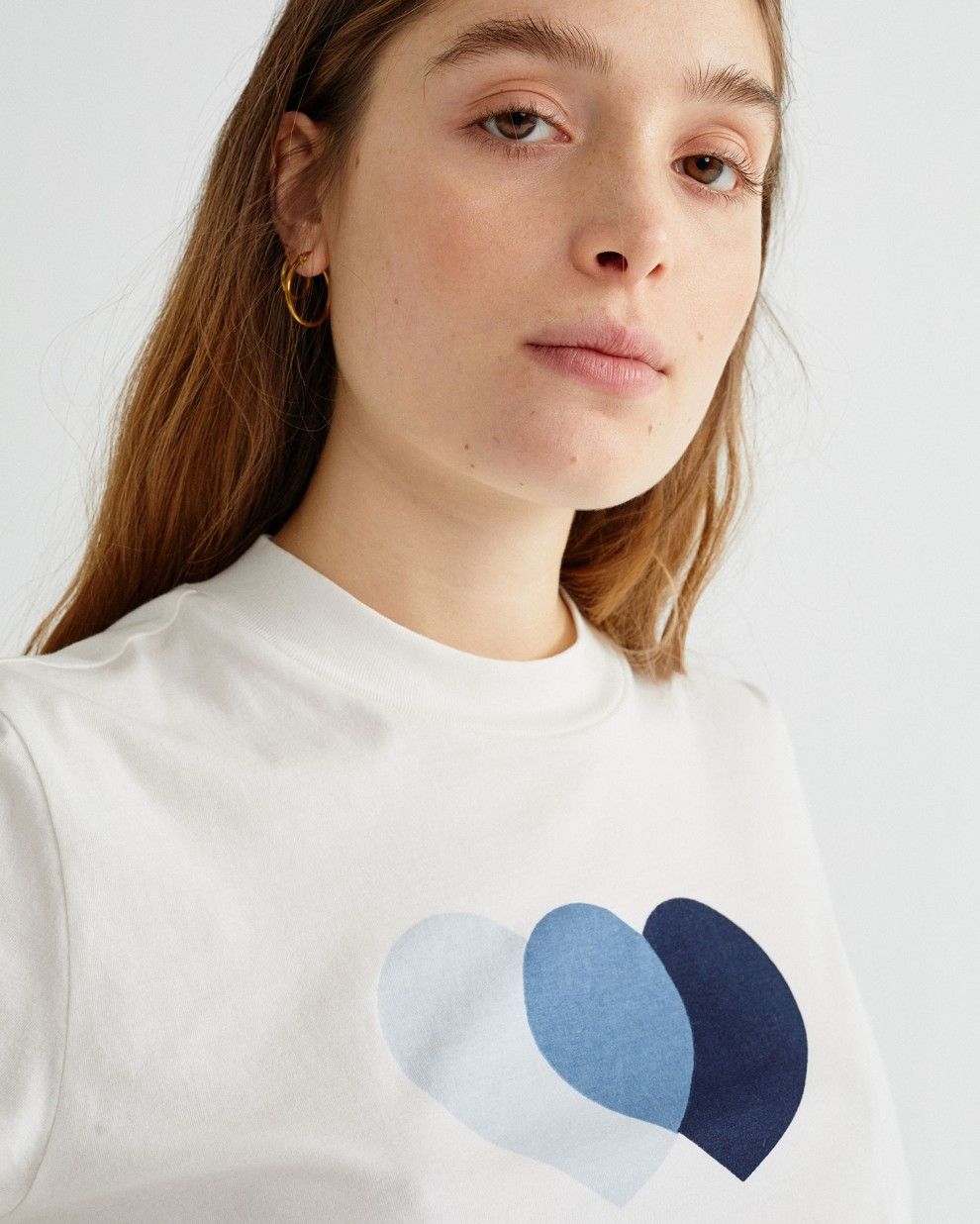 BLUE HEARTS MOCK T-SHIRT