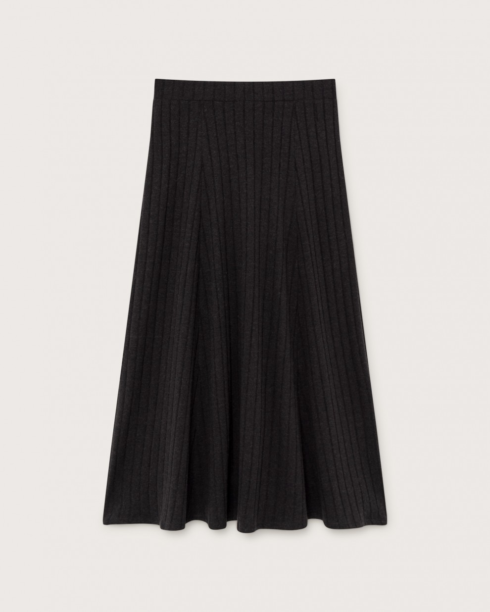 BLACK TRASH SATIS SKIRT