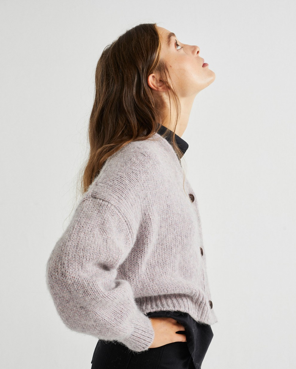 GREY MIX KILYA CARDIGAN