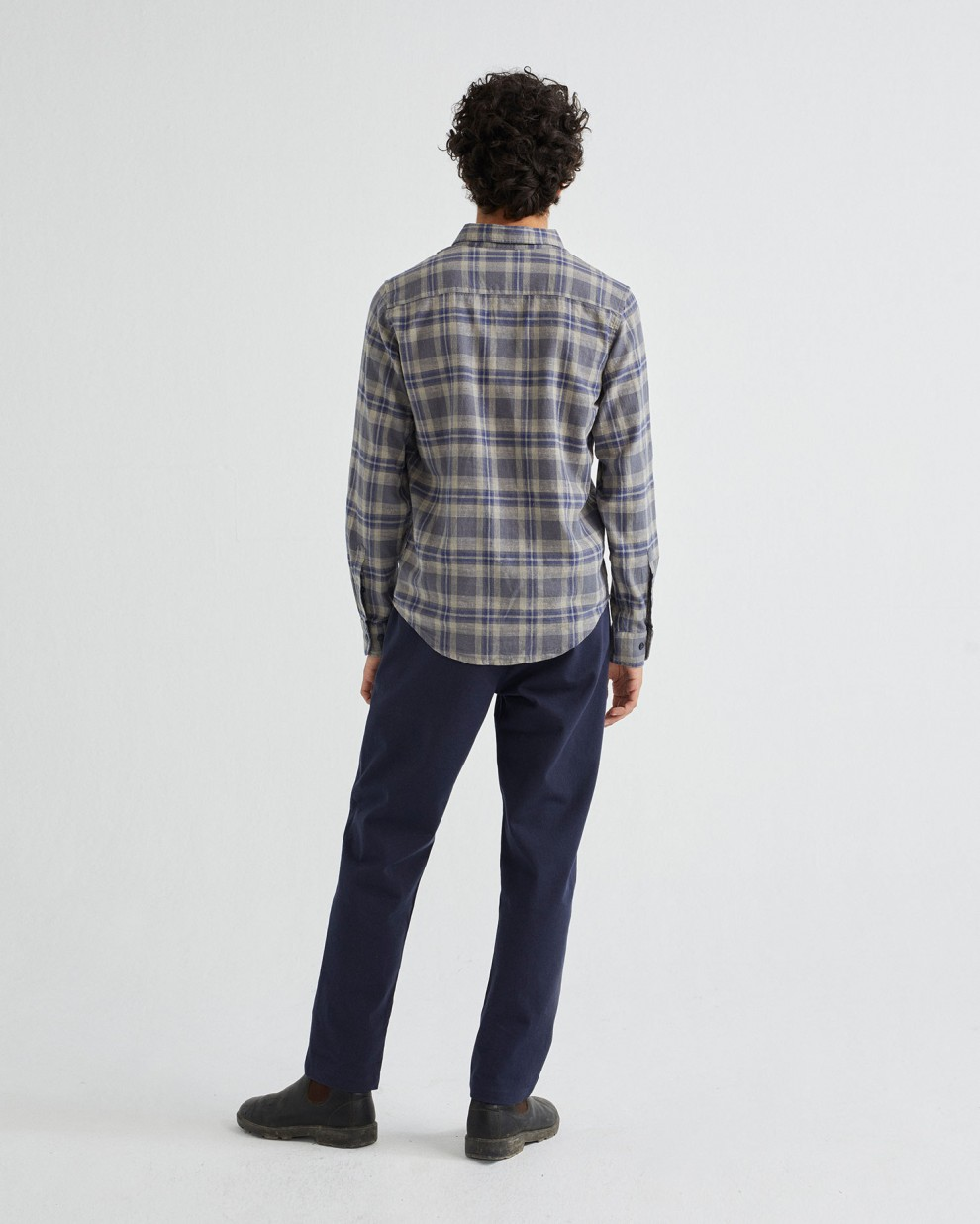BLUE CHECKS HEMP APIS SHIRT