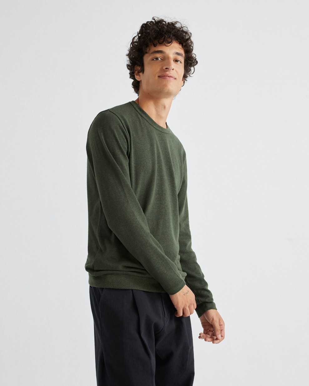 GREEN HEMP SHIVA L/S T-SHIRT
