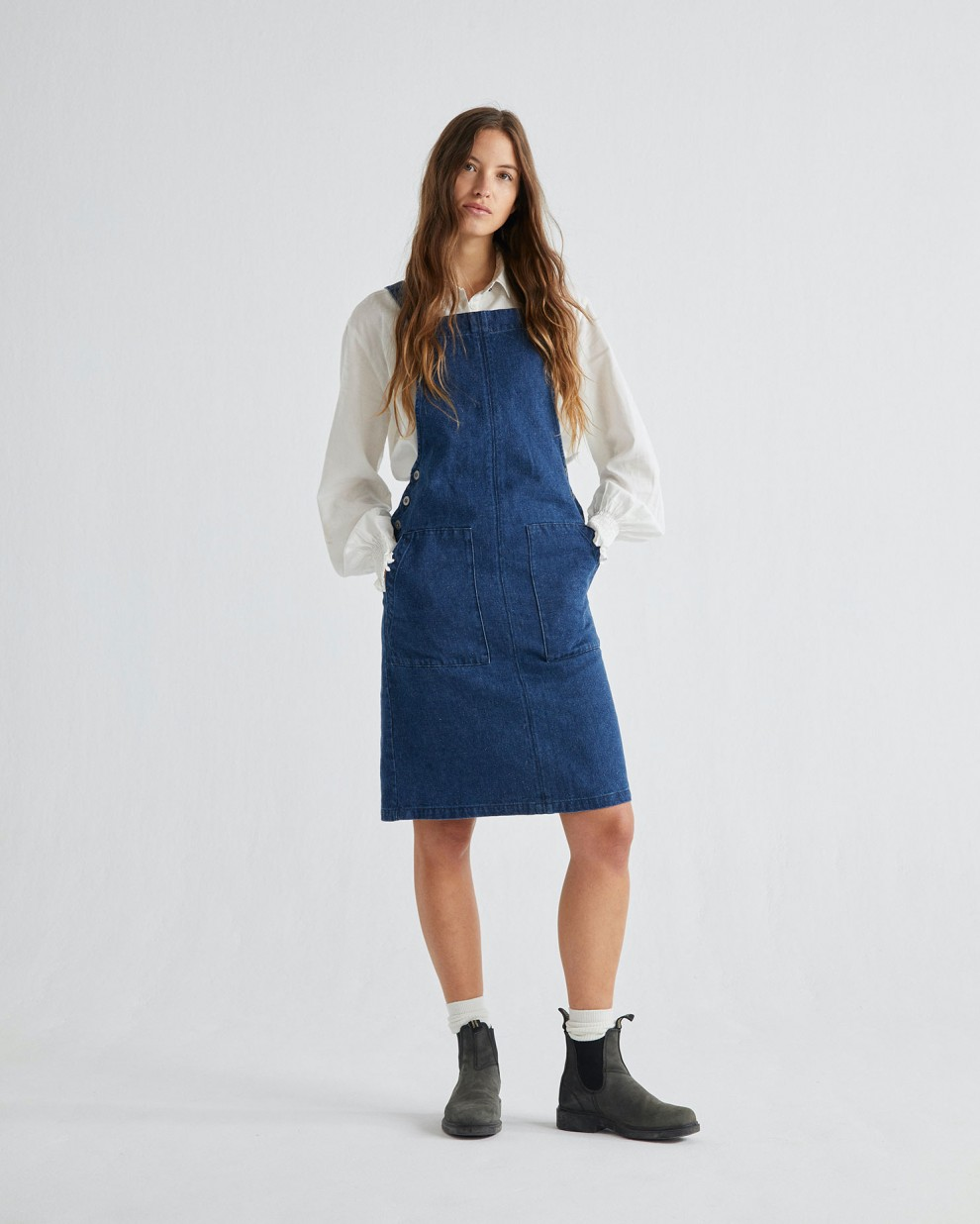 HEMP DENIM BELL DRESS