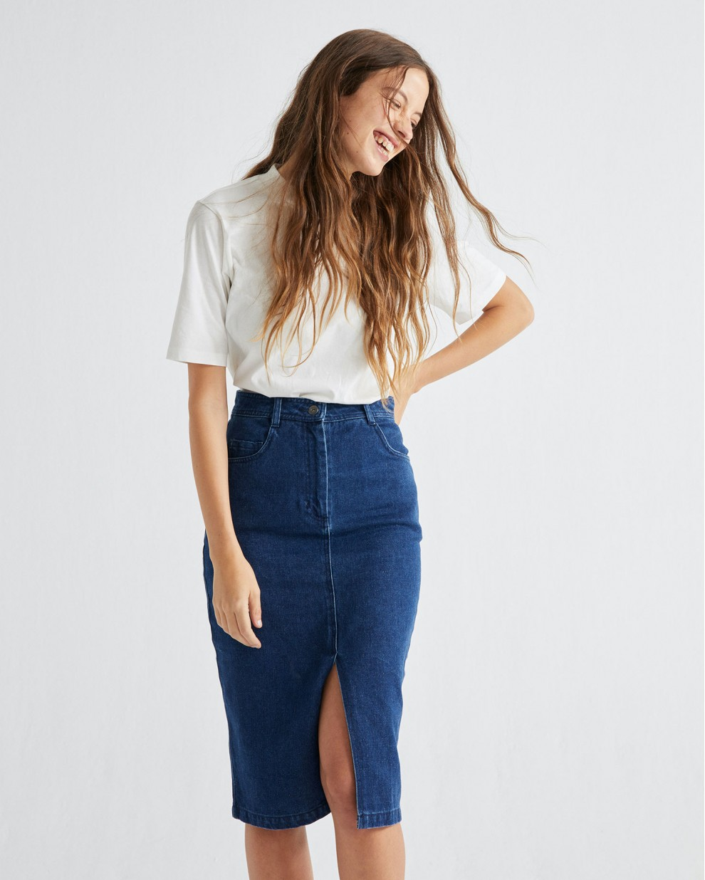 HEMP DENIM LOUISE SKIRT