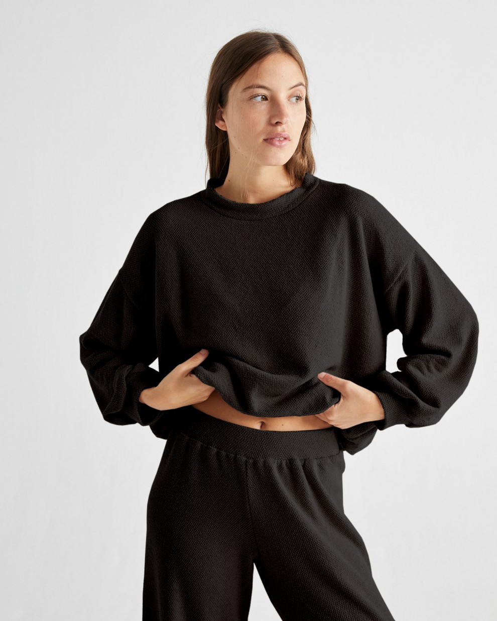 Black Trash comfy sweater