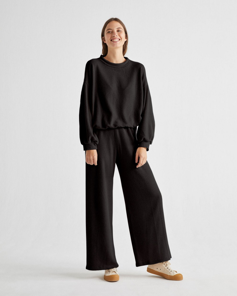 BLACK TRASH COMFY PANTS