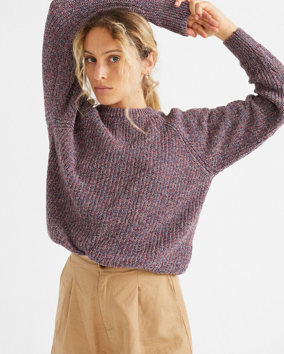 BLUE TRASH KNITTED SWEATER