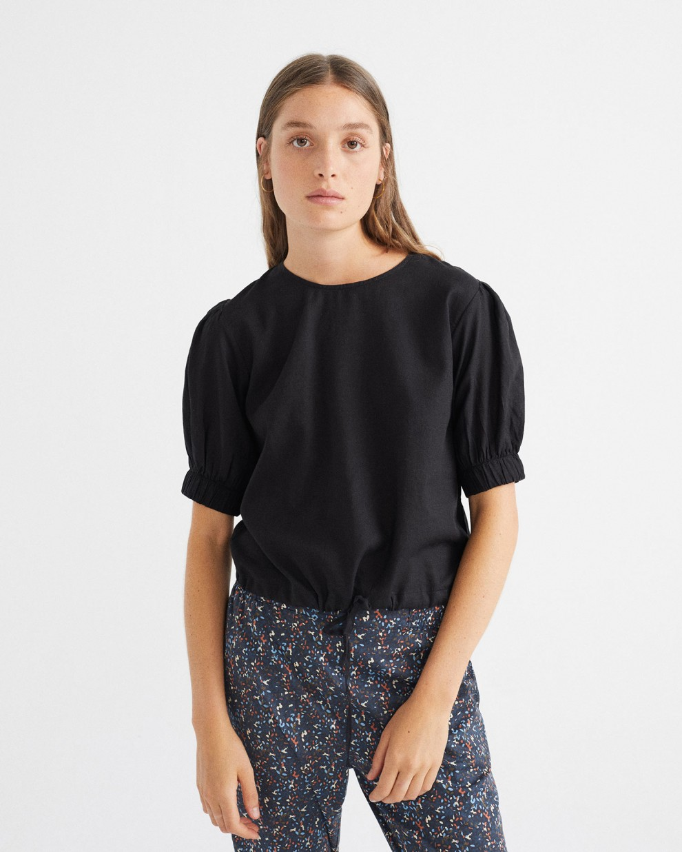 BLACK IRIS BLOUSE
