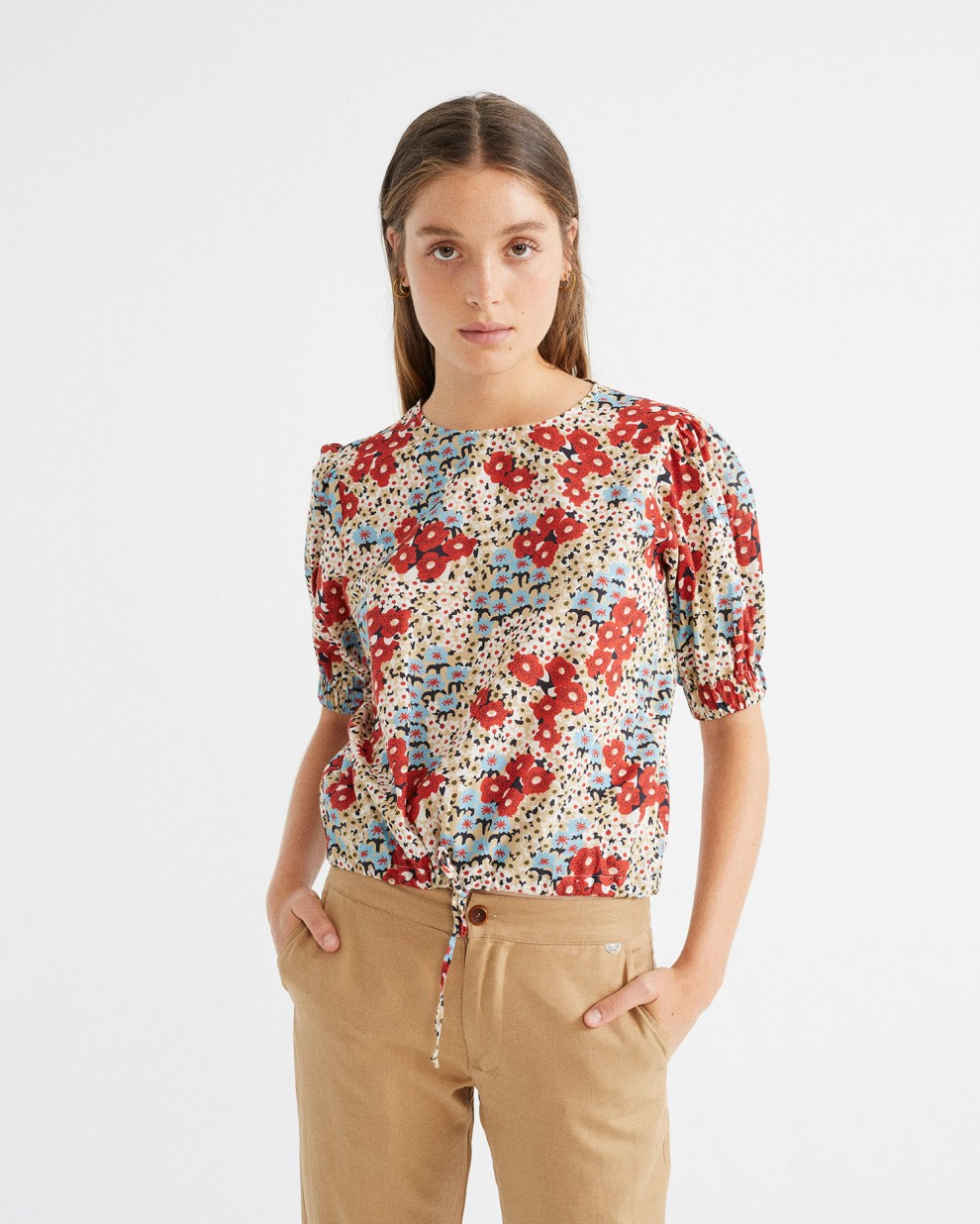SMALL FLOWERS IRIS BLOUSE