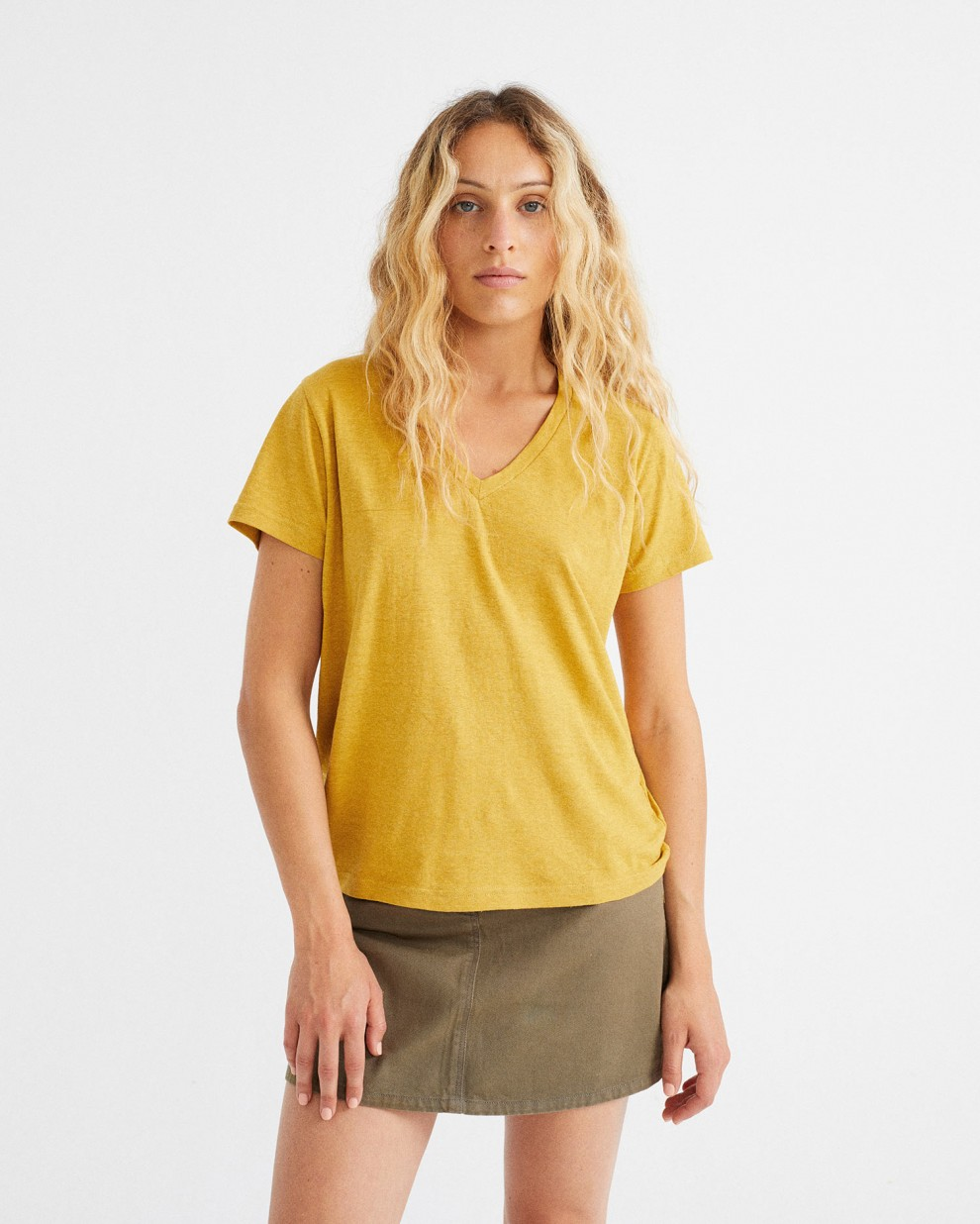 CAMISETA HEMP CLAVEL MUSTARD