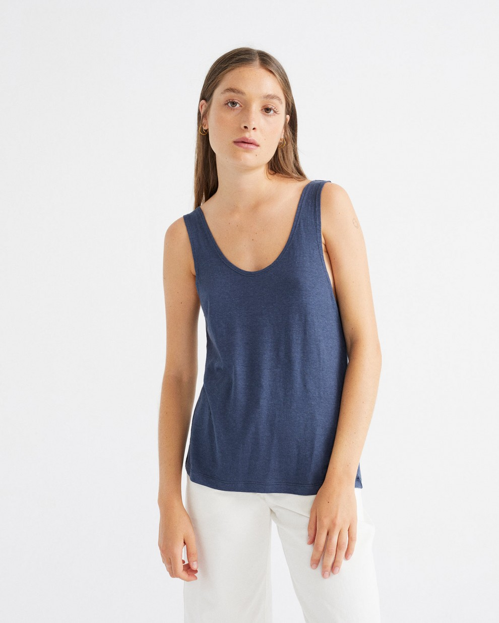 TANK TOP HEMP NAVY