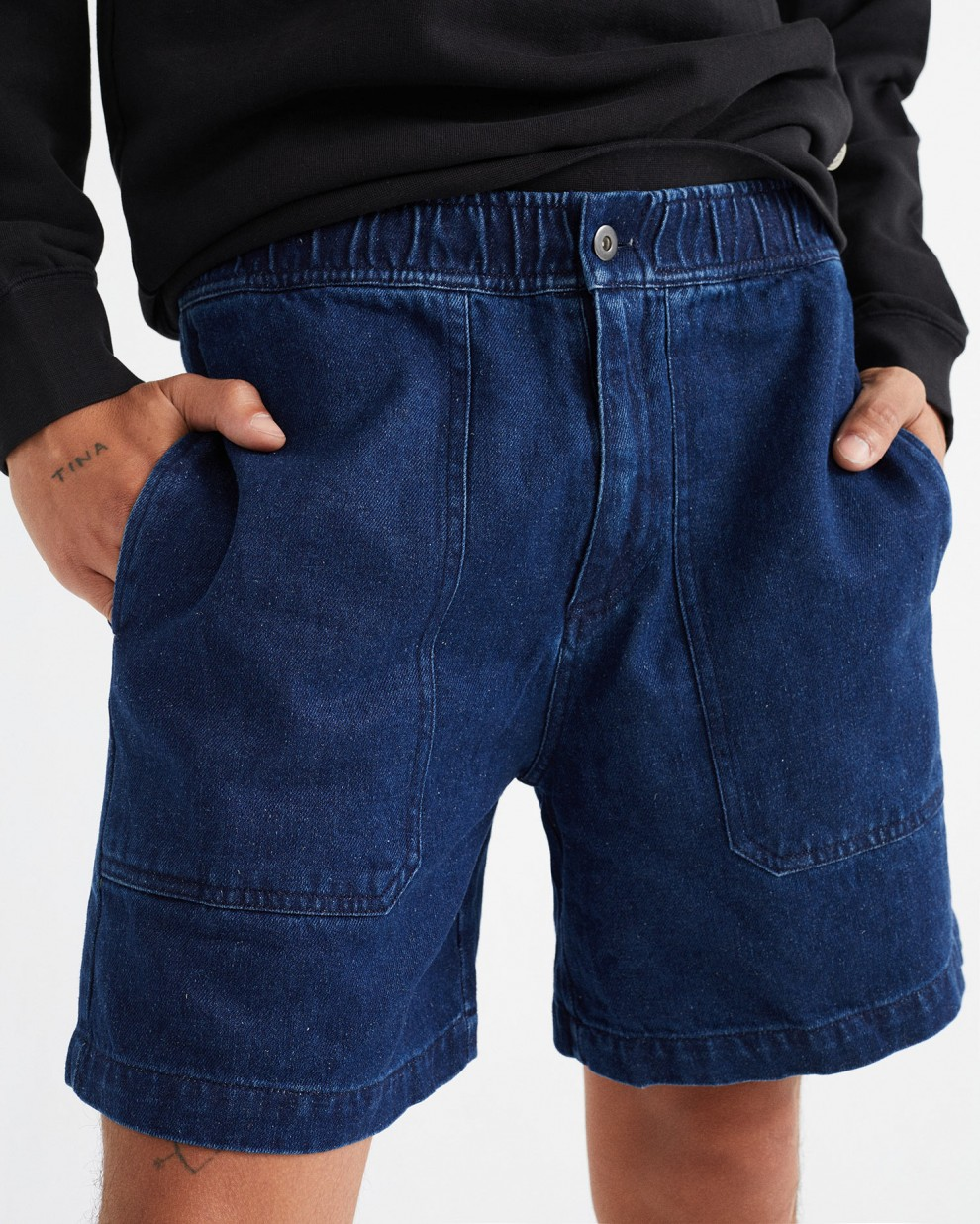 DENIM HEMP KIVU SHORTS