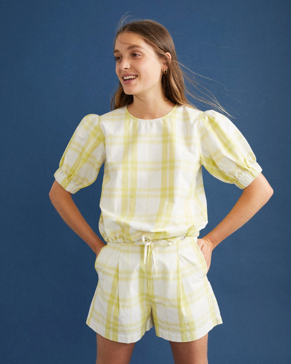 CHECKS IRIS BLOUSE