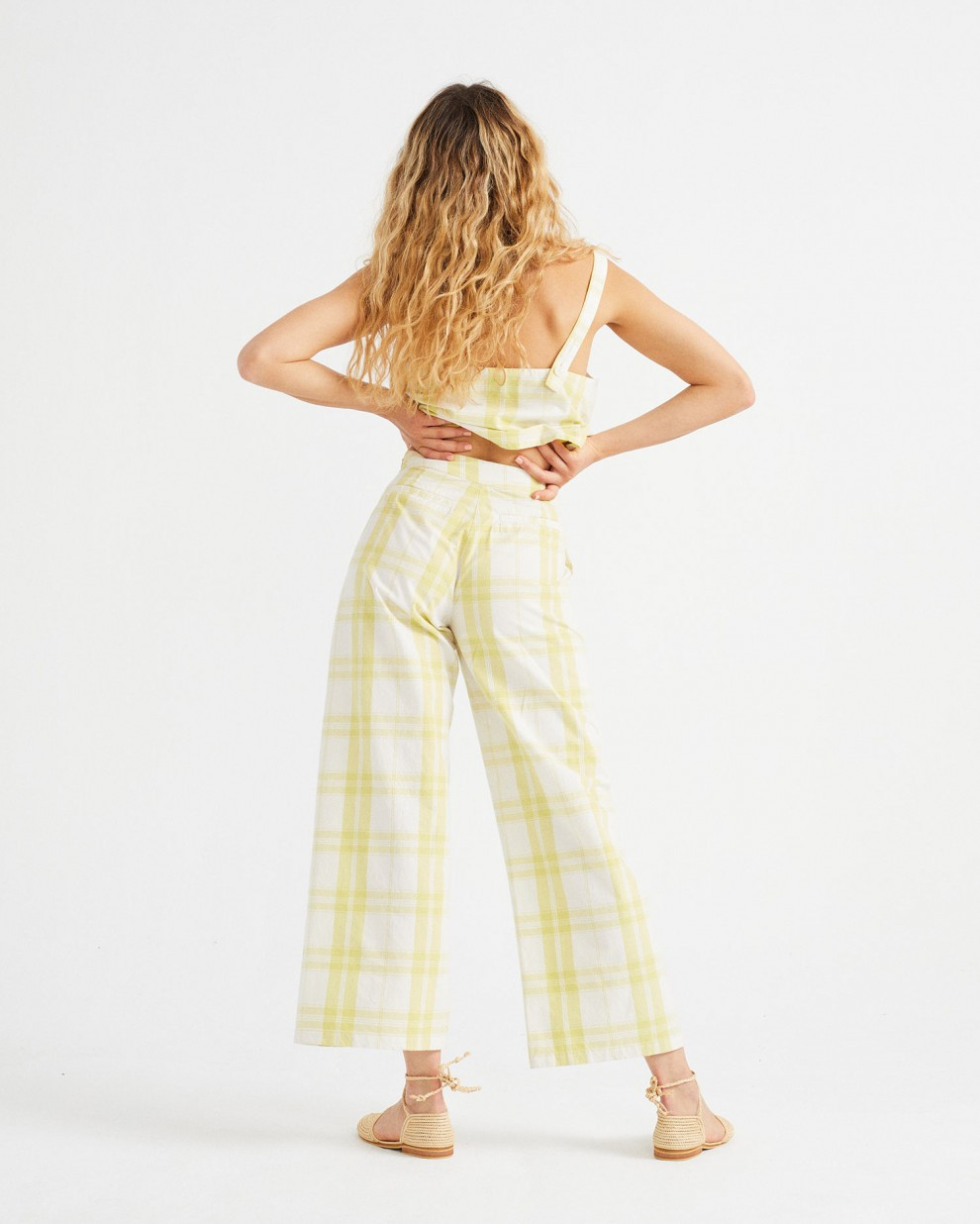 CHECKS BEGONIA PANTS
