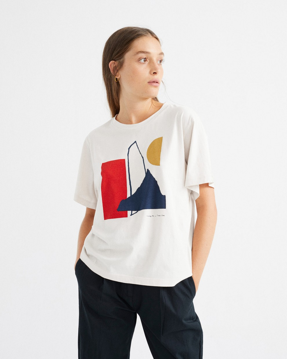 Camiseta abstract blanco
