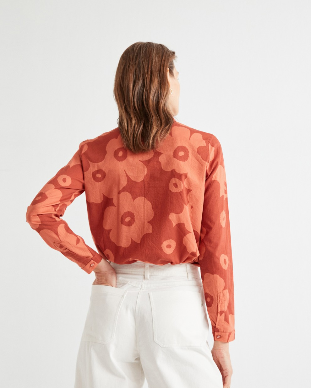 BIG FLOWERS TEJA CHAMOMILE BLOUSE