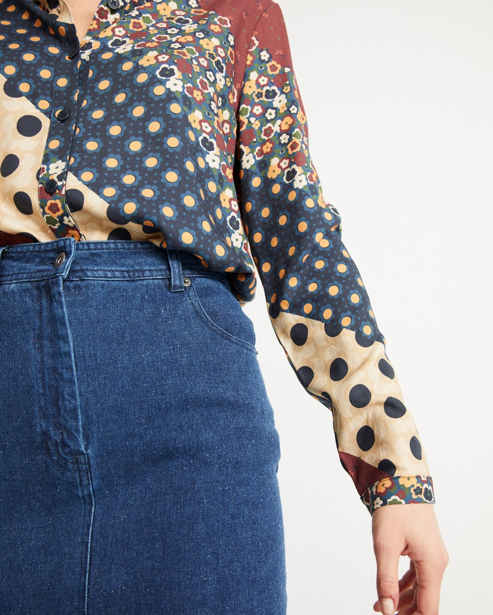 CAMISA CHAMOMILLE PATCHWORK