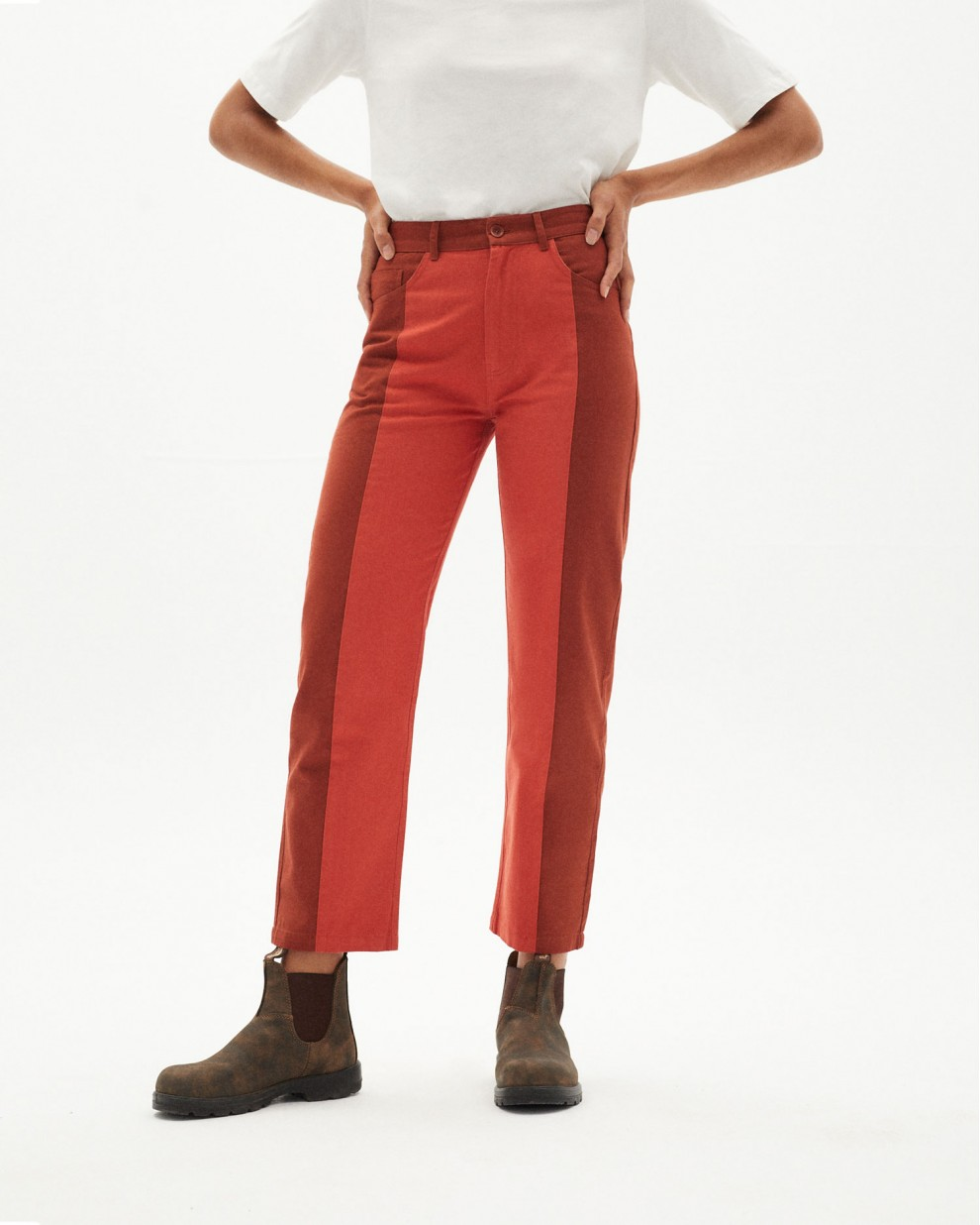 PANTALON NELE PATCHED CLAY RED