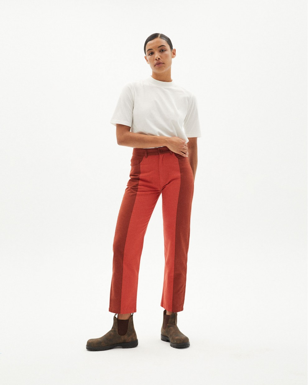 CLAY RED PATCHED NELE PANTS