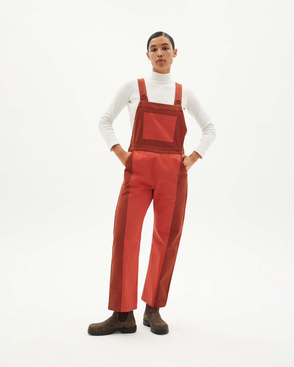 CLAY RED PATCHED VENUS JUMPSUIT
