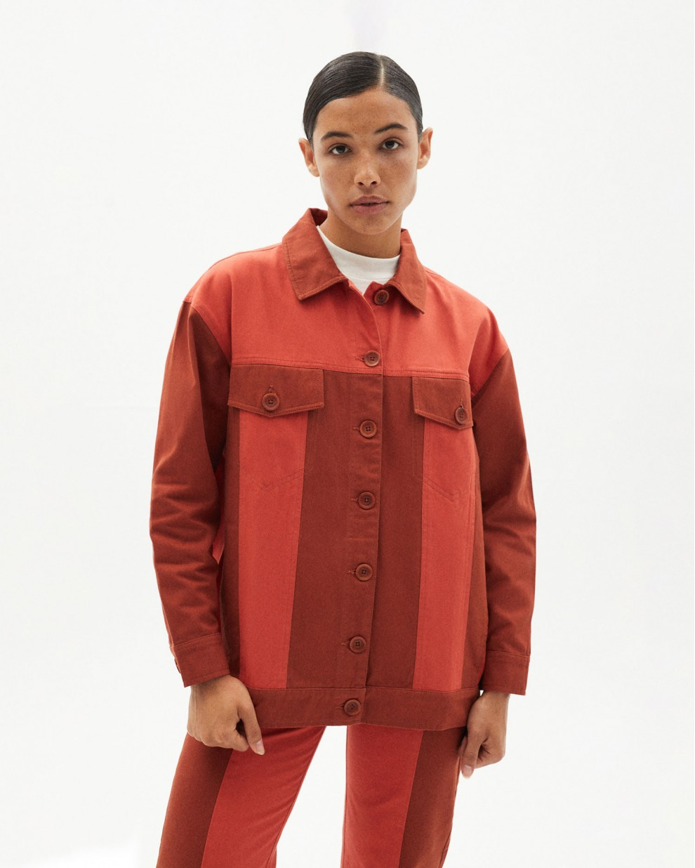 CLAY RED PATCHED PHOEBE JACKET