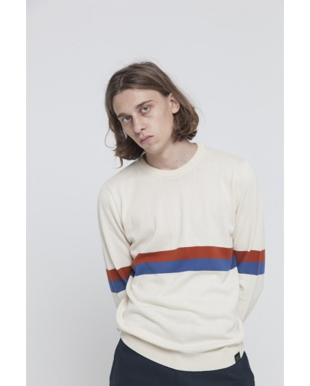 Ecru Knitted RCPB Sweater